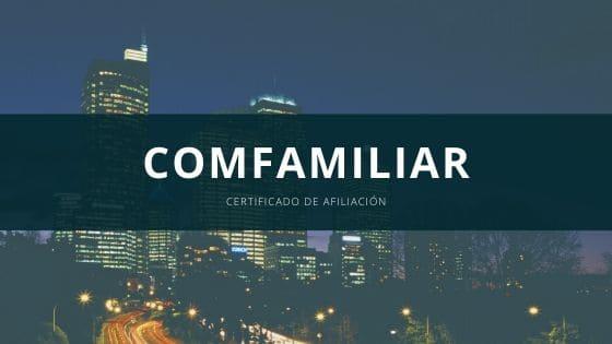 Certificado Comfamiliar