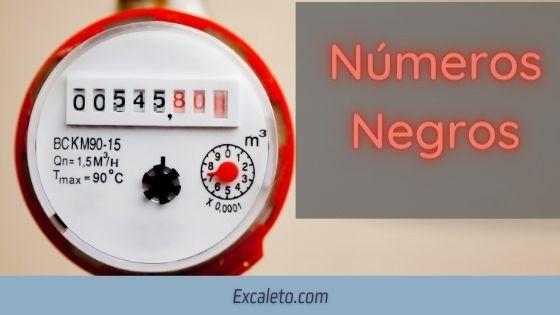 que significan los numeros rojos del medidor de agua